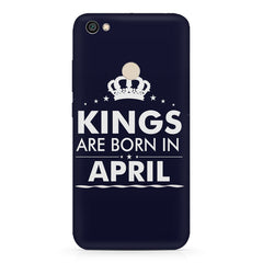 Kings are born in April design    Xiaomi Mi Y1 hard plastic printed back cover