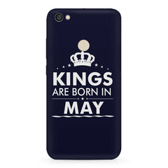 Kings are born in May design Redmi 5 all side printed hard back cover by Motivate box Redmi 5 hard plastic printed back cover.