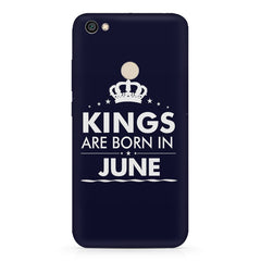 Kings are born in June design    Xiaomi Mi Y1 hard plastic printed back cover