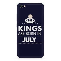 Kings are born in July design Redmi 5 all side printed hard back cover by Motivate box Redmi 5 hard plastic printed back cover.