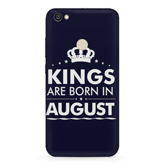 Kings are born in August design    Xiaomi Mi Y1 hard plastic printed back cover