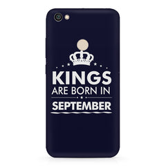 Kings are born in September design Redmi 5 all side printed hard back cover by Motivate box Redmi 5 hard plastic printed back cover.
