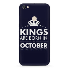 Kings are born in October design    Xiaomi Mi Y1 hard plastic printed back cover