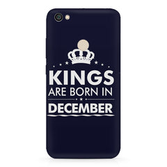 Kings are born in December design    Xiaomi Mi Y1 hard plastic printed back cover
