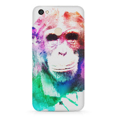 Colourful Monkey portrait Xiaomi Mi Y1 hard plastic printed back cover
