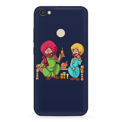 Punjabi sardars with chicken and beer avatar Redmi 5 hard plastic printed back cover.