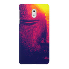 Half red face sculpture  Nokia 6  printed back cover
