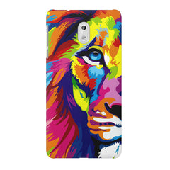 Colourfully Painted Lion design,  Nokia 6  printed back cover