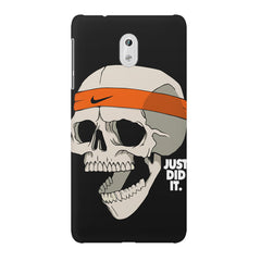 Skull Funny Just Did It !  design,  Nokia 6  printed back cover