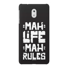 Mah Life Mah Rules Quirky design,  Nokia 6  printed back cover