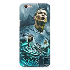 Oil painted ronaldo  design,  Oppo R10 Plus  printed back cover
