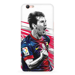 Messi illustration design,  Oppo R10 Plus  printed back cover