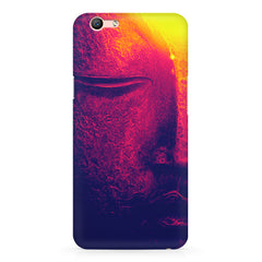 Half red face sculpture  Oppo R10 Plus  printed back cover