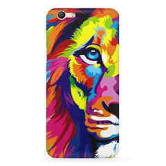 Colourfully Painted Lion design,  Oppo R10 Plus  printed back cover