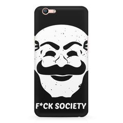 Fuck society design Oppo R10 Plus  printed back cover