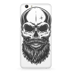 Skull with the beard  design,  Oppo F5  printed back cover
