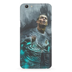 Oil painted ronaldo  design,  Oppo F5  printed back cover