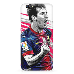 Messi illustration design,  Oppo F5  printed back cover