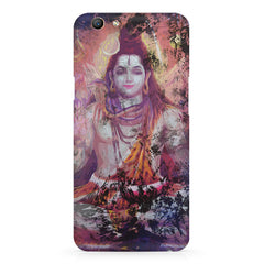 Shiva painted design Oppo F5  printed back cover