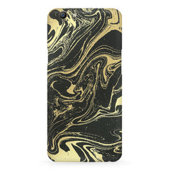 Golden black marble design Oppo F5  printed back cover
