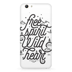 I am a free spirit design Oppo F5  printed back cover