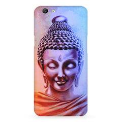 Lord Buddha design Oppo F5  printed back cover