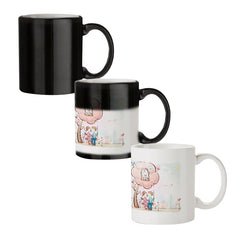 Couple swinging together sketch design black magic mugs| Design appears when hot water is poured