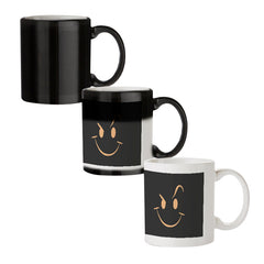 Smilie like The Rock design black magic mugs| Design appears when hot water is poured
