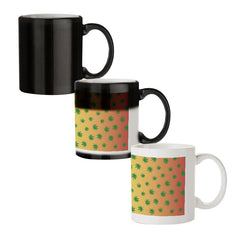 Marihuana pattern design black magic mugs| Design appears when hot water is poured