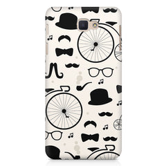 Retro theme for classic men Samsung Samsung J7 2017  printed back cover