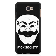 Fuck society design Samsung On7 2016   printed back cover