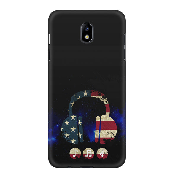 America tunes Blue sprayed  Samsung Samsung J7 Pro  printed back cover