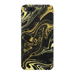 Golden black marble design Xiaomi Mi A1  printed back cover