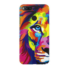 Colourfully Painted Lion design,  Xiaomi Mi A1  printed back cover