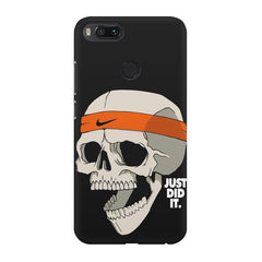 Skull Funny Just Did It !  design,  Xiaomi Mi A1  printed back cover