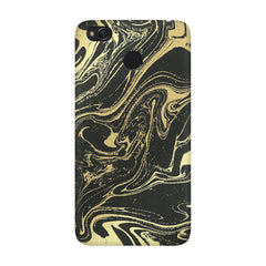 Golden black marble design Xiaomi Mi 4x  printed back cover