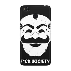 Fuck society design Xiaomi Mi 4x  printed back cover