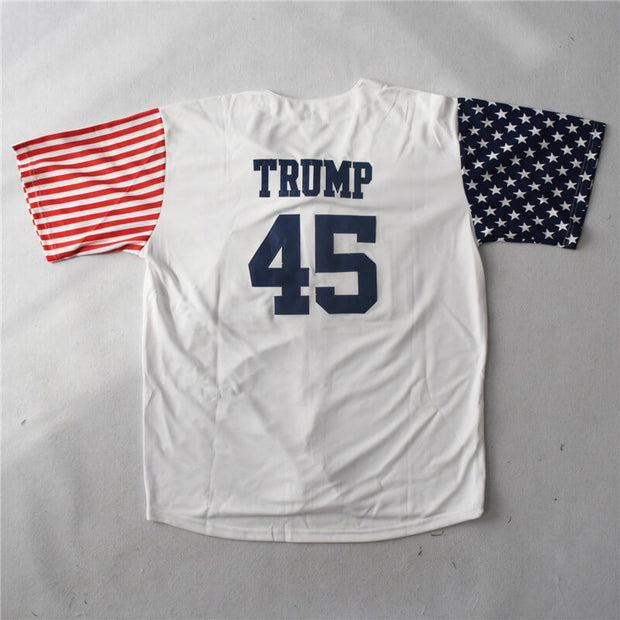 45 trump baseball jersey back