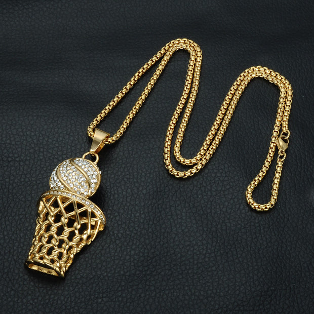 Hip Hop Basketball Necklace