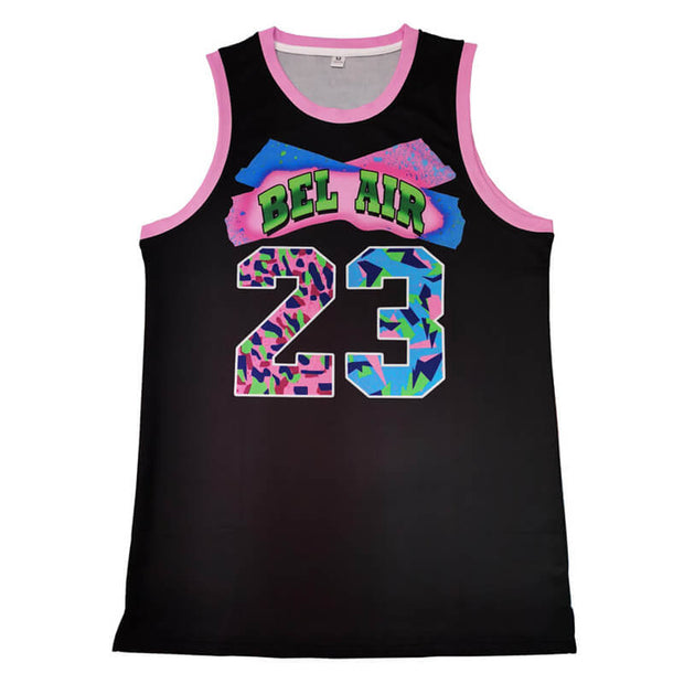 bel air basketball jersey  23 black