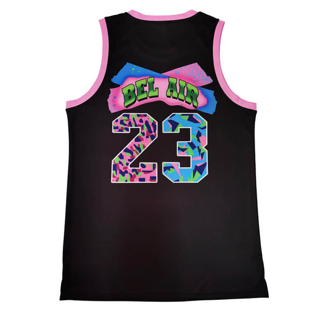 bel air basketball jersey black back