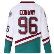 charlie conway mighty ducks jersey white