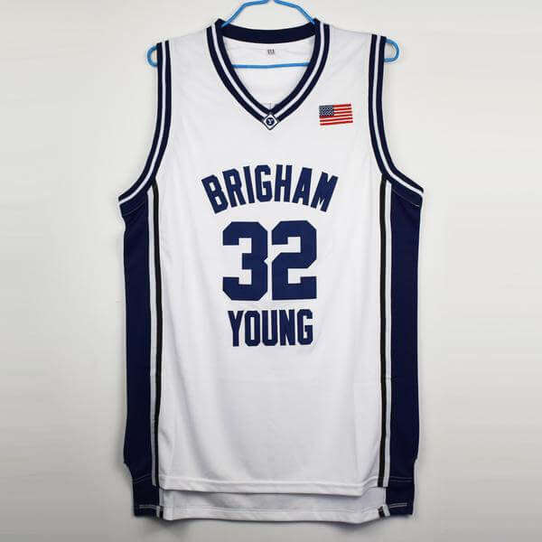 hot sale online 27b76 093ae Jimmer Fredette #32 BYU College Jersey – Jersey One