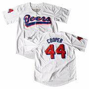 Joe Cooper #44 Milwaukee Beers Baseball Jersey