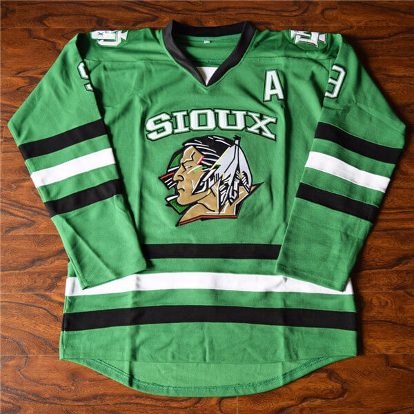 Jonathan Toews #9 Sioux Ice Hockey Jersey