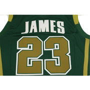 lebron james high school jersey green