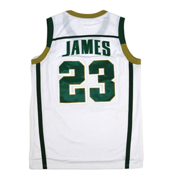 lebron james high school jersey white
