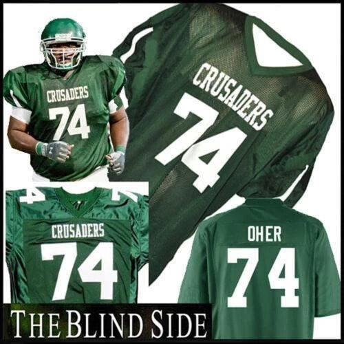 Michael Oher 74 the Blind Side Football Movie Jersey