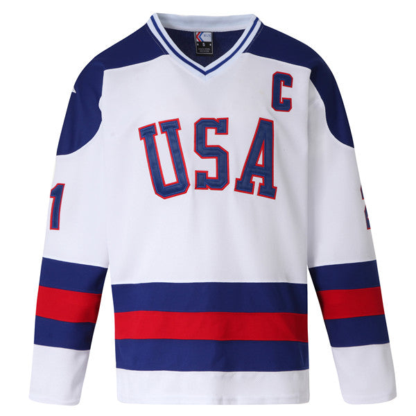 miracle on ice jersey mike eruzione