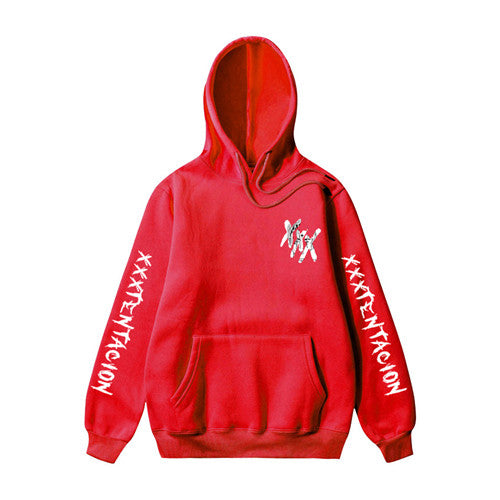 XXXTentacion XXX on Shoulder Hoodies